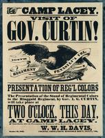 Camp Lacey. Visit of Gov. Curtin! Presentation of Reg'l Colors ...