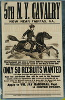 5th N.Y. Cavalry now near Fairfax, Va. This regiment has been in sixteen different engagements, and has distinguished itself as one of the best Reg'ts in the field.
