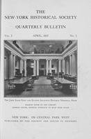 NYHS v01 n01, Quarterly Bulletin, April 1917