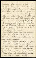 Letter home from Sarah R. Blunt, a Union nurse, to her sister Lila describing her care of hospitalized soldiers, written from Point Lookout, Maryland, March 17, 1863, p. 6.