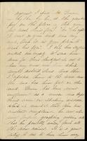 Letter home from Sarah R. Blunt, a Union nurse, to her mother describing her duties and hospital conditions, written from Point Lookout, Maryland, April 6, 1863, p. 3.