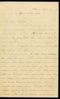 Letter home from Sarah R. Blunt, a Union nurse, to her cousin Agnes concerning hospital conditions and other nurses, written from Point Lookout, Maryland, April 10, 1863, p. 1.