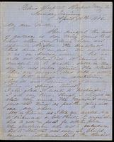Letter home from Sarah R. Blunt, a Union nurse, to her mother concerning arrangements for travel, written from Harper's Ferry, Virginia, April 16, 1865, p. 1.