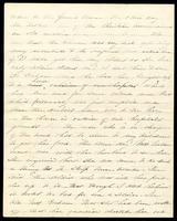 Letter home from Sarah R. Blunt, a Union nurse, to her sister Lila concerning the arrest of a woman and a soldier, written from Harper's Ferry, Virginia, June 5, 1865, p. 2.