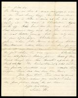 Letter home from Sarah R. Blunt, a Union nurse, to her sister Lila concerning the arrest of a woman and a soldier, written from Harper's Ferry, Virginia, June 5, 1865, p. 4.