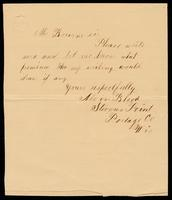 Letter from Alvin Blood to William Oland Bourne, written from Stevens Point, Portage County, Wisconsin, undated.