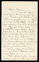 Letter from Phineas P. Whitehouse to William Oland Bourne, written from Central Park Hospital in New York, dated April 27, 1865, p. 1.