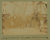 Deck of U.S.S. 'Wabash.' Group of Officers (Admiral DuPont and staff) [Image]