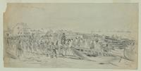 A Scene of Hilton Head, S.C. during the gale of March 24-31, 1863 (recto).