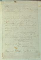 Letter to Frank Leslie, written by Edmund Birckhead Bensell, dated May 12, 1862 (verso).