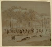 Battle Scene Near Marietta, Georgia (recto).