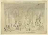 Camp Fires at Night of the 8th Massachusetts Regiment and a Portion of the 7th Regiment of New York on the Road from Annapolis, Maryland, to Washington, D.C.
