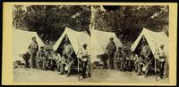 [Soldiers of the 7th Regiment New York Militia outside tent.]