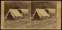 Field telegraph, battery wagon and officers tent of military Telegraph Corps, headquarters Army of the Potomac, 24th June, 1864