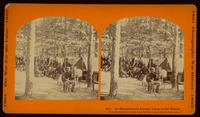 1st Massachusetts Cavalry camp in the woods