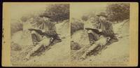 Special artist of Harper's Weekly sketching battle field of Gettysburg.