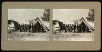Lincoln at Antietam Oct. 3rd, 1862, with Gen. McClellan and staff