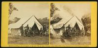 Gen'l Marcy and friends at headquarters Army of the Potomac, 4th October, 1862. [Stereograph]
