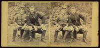 Lt. Washington, a Confederate prisoner, and Capt. Custer, U.S.A.