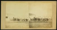 [Group of soldiers and officers in unidentified camp]