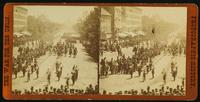Sherman's Grand Army.  Looking up Pennsylvania Ave. from the Treasury Building, Maj. Gen. Logan and staff and Army of Tennessee passing in review