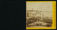 Interior of Fort Sumpter [sic], Charleston Harbor, S. C., April 14, 1865, pending the ceremony of raising the old Flag