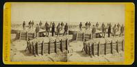 Interior of the Union fort Sedgwick, called by the rebel soldiers 'Fort Hell,' showing Union soldiers on the breastworks,.  This view was taken the Morning after the storming of Petersburg, Va., April 2d, 1865