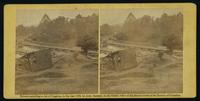 Canvas pontoon bridges at Hanovertown Ferry on the Pamunky [sic], constructed by the 50th N. Y. V. Engineers, May 28, 1864. [Stereograph]