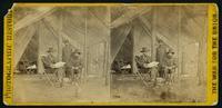 Lieut. Gen. Grant and chief of staff, Gen. Rawlins, at his head quarters, at Cold Harbor, Va.  Taken June,  14th 1864