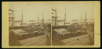 View at City Point, James River, Va., Dock in foreground, July 5, 1864