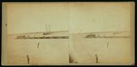 [View of City Point (Va.) showing men on a pier.]
