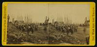 [View of City Point, Va. showing supplies, men, ships]
