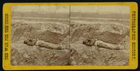A dead Confederate soldier on the Petersburg line, April 2, 1865