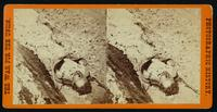 A dead Southern soldier, as he lay on the foot passage in the trenches of Fort Mahone, called by the soldiers 'Fort Damnation.' [Stereograph]