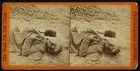 C. S. soldier killed in the trenches, at the storming of Petersburg, Va. April