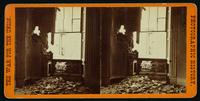 View showing the effect of a shell bursting though the east parlor of the Dunlop House, Petersburgh, [sic] Va.