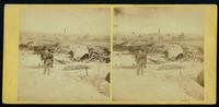 Cowan's Independent Battery, 1st N.Y., inside one of the rebel forts in front of Petersburg, 24th June, 1864. [Stereograph]