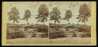 Bombproof kitchen and tents on front line in front of Petersburg, August 10, 1864