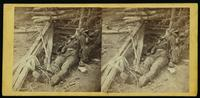 Dead Confederate soldier as he lay on the field, after the battle of the 19th May, near Mrs. Allsop's, Pine Forest, 3 miles from Spottsylvania Court House, Va.
