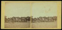 1st Mass. Heavy Artillery burying the dead at Mrs. Allsop's House, Pine Forest near Spottsylvania Court House, after the battle of 19th May, 1864. [Stereograph]