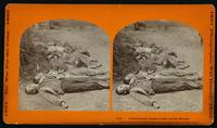 Confederate soldiers laid out for burial
