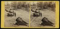 Battery no. 4, near Yorktown, mounting ten 13 inch mortars, each weighing 20,000 pounds