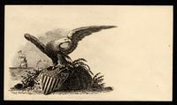 [Eagle with American shield].