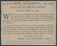 In Council of Safety, for the state of New-York, Kingston, August 13, 1777.