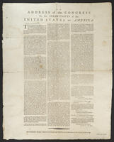 address of the Congress to the inhabitants of the United States of America.