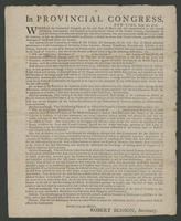 In Provincial Congress, New-York, June 20, 1776.