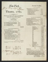 New-York, theatre, 1782.