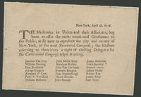 New-York, April 16, 1776.