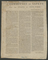 In Committee of Safety for the state of New-York. Kingston, March 1, 1777.