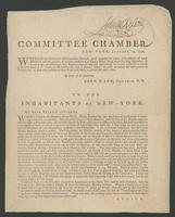 Committee chamber, New-York, January 10, 1776.